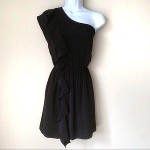 Lush Black One Shoulder Mini Dress